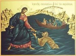 Ο Κύριος, ο Απ. Πέτρος... στη θάλασσα της Γαλιλαίας