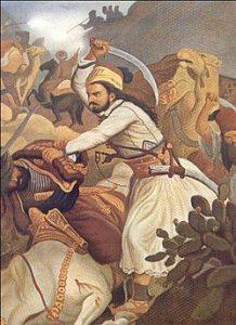 Η μάχη στα Βασιλικά. Πίνακας του Πέτερ φον Χες