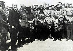 Στεργιάδης, Παρασκευόπουλος, Πάνγκαλος, στη Σμύρνη τον Οκτώβριο του 1920
